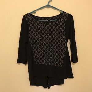 Lucky Brand Shirt NWOT Black Flowy Small 🖤